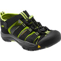 Keen Newport H2 Youth Sandals - Black / Lime Green