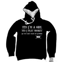 DSC Hockey Yes Girl Girl's Hoodie