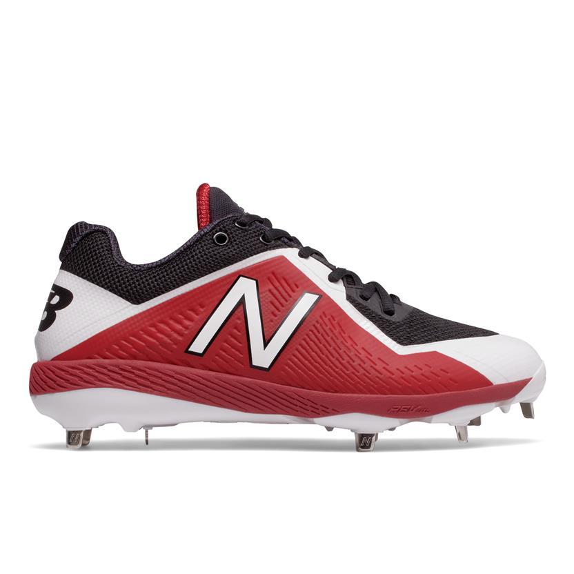 4ddf6443dea New Balance L4040v4 Low-Cut Metal Men s Baseball Cleats - Black   Red