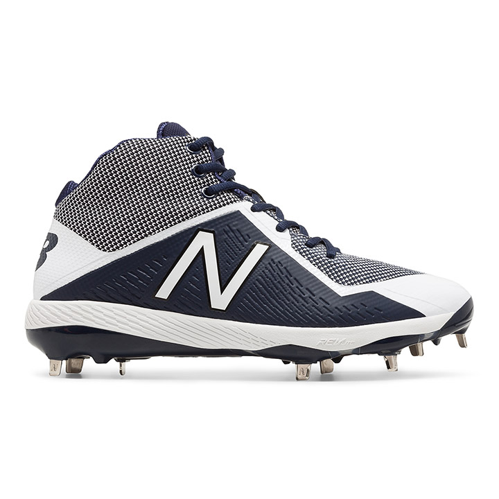 1da253f7e59d New Balance M4040v4 Mid-Cut Metal Men s Baseball Cleats - Navy   White
