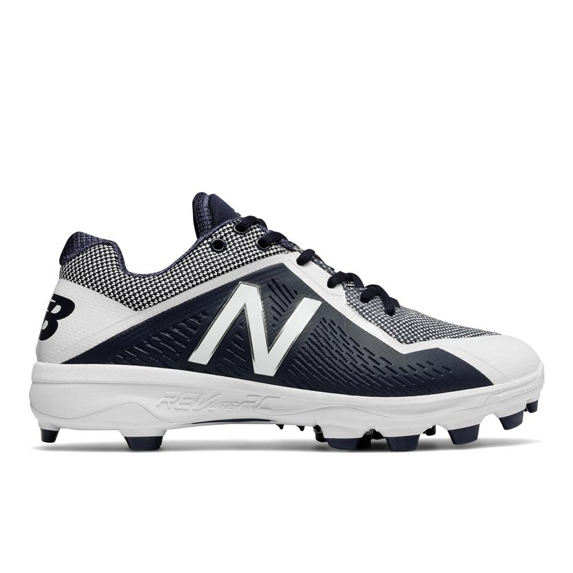 be5314492b579 New Balance PL4040v4 Low-Cut Molded Men s Baseball Cleats - Navy   White