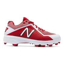 New Balance 4040v4 Low-Cut Molded Men's Baseball Cleats - Red / White
