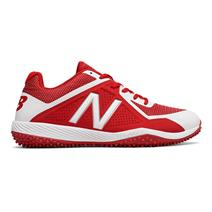 New Balance T4040v4 Men's Turf Baseball Cleats - Red / White