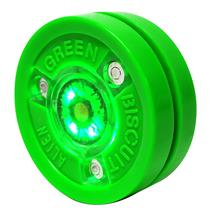 Green Biscuit Alien Street Hockey Puck