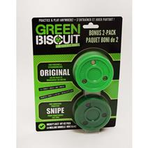 Green Biscuit Original Passing Street Hockey Puck 2-Pack