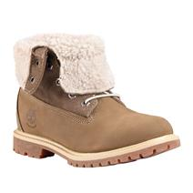 Timberland Authentics Teddy Fleece Fold-Down Women's Waterproof Boots - Taupe Nubuck