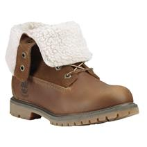 Timberland Authentics Teddy Fleece Fold-Down Women's Waterproof Boots - Tobacco Forty