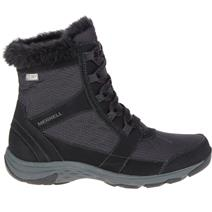Merrell Albury Mid Polar Waterproof Women's Winter Boots - Black