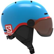 Salomon Grom Visor Kids Helmet - Blue