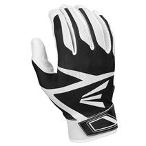Easton Z3 Hyperskin Youth Baseball Batting Gloves - White / Black