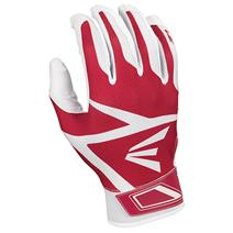 Easton Z3 Hyperskin Youth Baseball Batting Gloves - White / Red