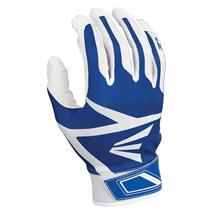 Easton Z3 Hyperskin Youth Baseball Batting Gloves - White / Royal