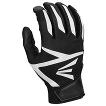 Easton Z3 Hyperskin Youth Baseball Batting Gloves - Black / Black