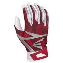 Easton Z7 Hyperskin Baseball Batting Gloves - White / Red Basecamo