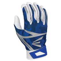 Easton Z7 Hyperskin Baseball Batting Gloves - White / Royal Basecamo