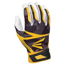 Easton Z7 Hyperskin Baseball Batting Gloves - White / Black / Gold Basecamo