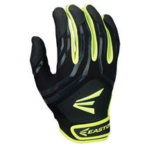 Easton HF3 Hyperskin Fast-Pitch Girl's Batting Gloves - Black / Optic Yellow
