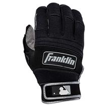 Franklin All Weather Pro Youth Baseball Batting Gloves - Grey / Black