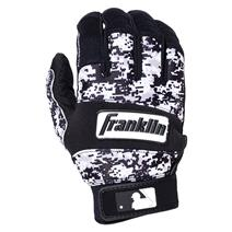 Franklin All Weather Pro Youth Baseball Batting Gloves - Black / White / Camo