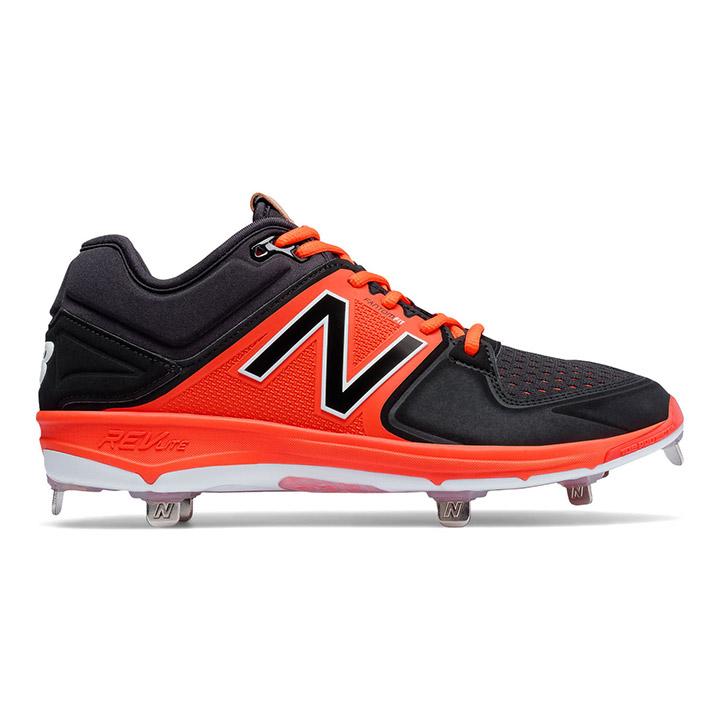5868390723a New Balance 3000v3 Low-Cut Metal Men s Baseball Cleats - Orange   Black