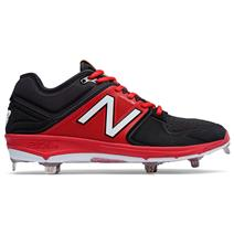New Balance 3000v3 Low-Cut Metal Men's Baseball Cleats - Black / Red