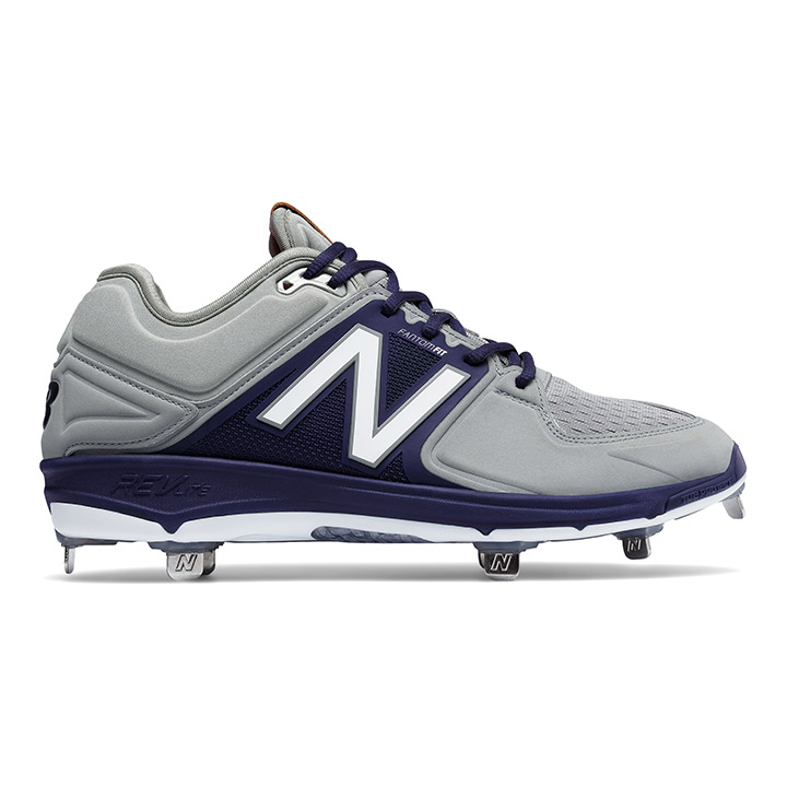 deb42c36a New Balance 3000v3 Low-Cut Metal Men s Baseball Cleats - Grey   Navy ...