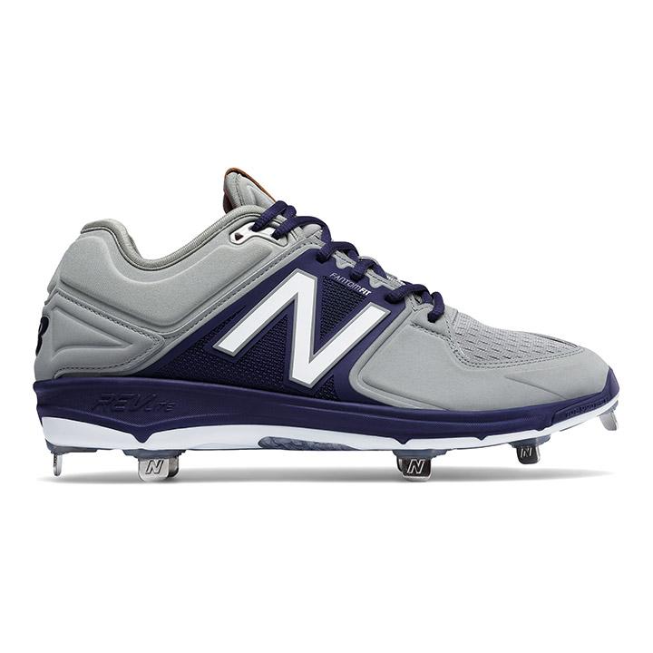 New Balance 3000v3 Low-Cut Metal Men s Baseball Cleats - Grey   Navy ... 530abd090a4