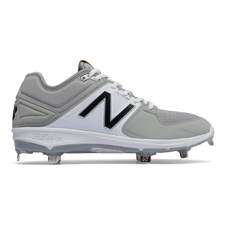 bd701b793c5 New Balance 3000v3 Low-Cut Metal Men s Baseball Cleats - Grey   White