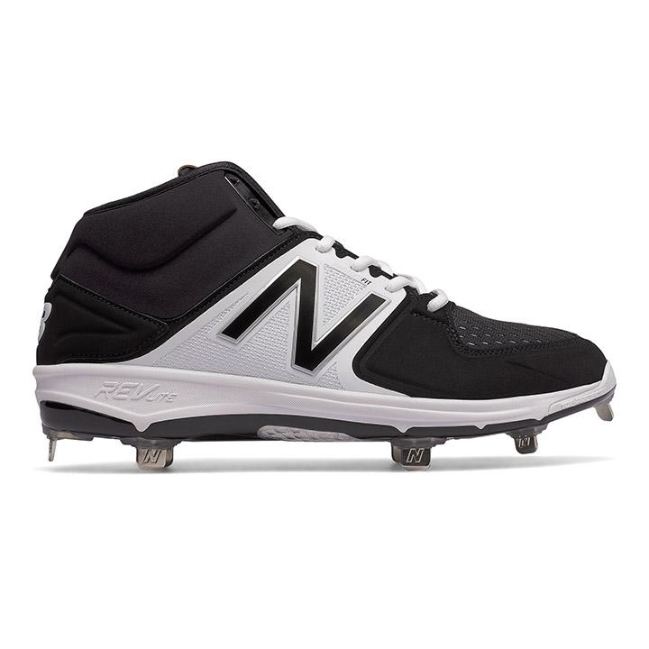 fa85733d05ed8 New Balance M3000v3 Mid-Cut Metal Men's Baseball Cleats - Black / White