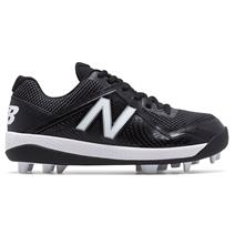 New Balance J4040v4 Boy's Molded Baseball Cleats - Black / Black