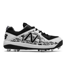 New Balance J4040v4 Boy's Molded Baseball Cleats - Black / Camo