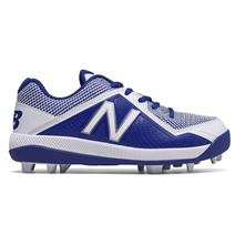 New Balance J4040v4 Boy's Molded Baseball Cleats - Royal / White