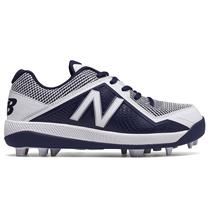 New Balance J4040v4 Boy's Molded Baseball Cleats - Navy / White