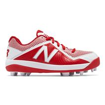 New Balance J4040v4 Boy's Molded Baseball Cleats - Red / White