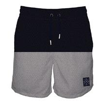 TEAMLTD Herringbone Navy Men's Swim Shorts