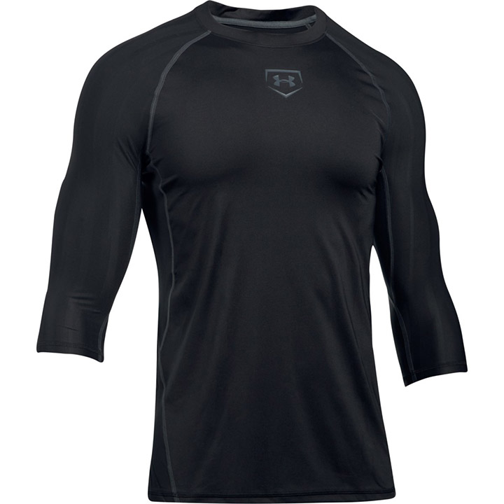 Clothing, Shoes & Accessories Mens Under Armour Compression Heat Gear Athletic T-shirt Size Medium Black Activewear Tops
