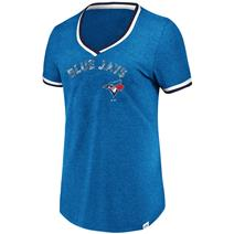 Majestic MLB Driven By Results Women's V-Neck Tee - Toronto Blue Jays