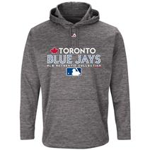 Majestic MLB Team Drive Men's Fleece Hoodie - Toronto Blue Jays