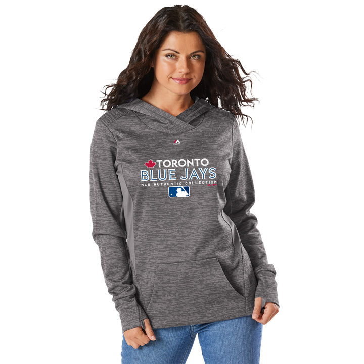 cheaper cedc4 7b684 Majestic MLB Team Drive Women's Fleece Hoodie - Toronto Blue ...