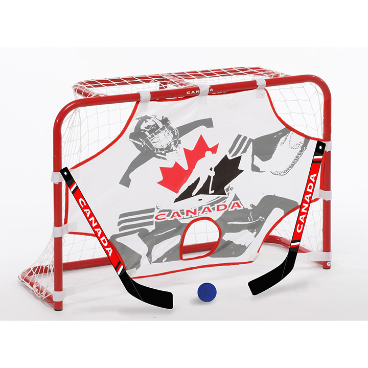 Hockey Canada Mini 32 Inch Hockey Net Set With 2 Sticks