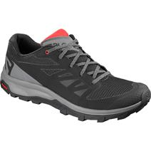 Salomon Outline Men's Hiking Shoes - Black/Quiet Shade/High Risk Red