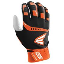 Easton Walk Off Baseball Batting Gloves - Black / Orange
