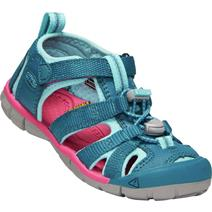 Keen Seacamp II CNX Youth Sandals - Deep Lagoon/Bright Pink
