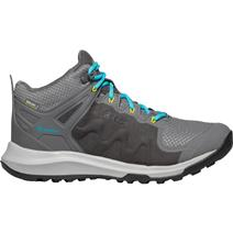 Keen Explore Women's Mid Waterproof Hiking Shoes - Steel Grey/Bright Turquoise