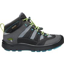 Keen Hikeport Youth Mid Waterproof Hiking Shoes - Magnet/Greenery