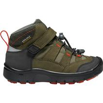 Keen Hikeport Childrens' Mid Waterproof Hiking Shoes - Martini Olive/Pureed Pumpkin
