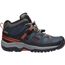 Keen Targhee Mid Youth Waterproof Hiking Shoes - Blue Nights/Rooibos Tea