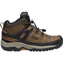 Keen Targhee Mid Youth Waterproof Hiking Shoes - Dark Earth/Golden Brown