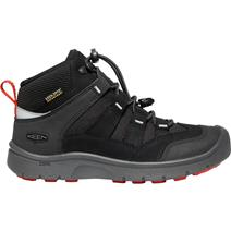 Keen Hikeport Youth Mid Waterproof Hiking Shoes - Black/Bright Red