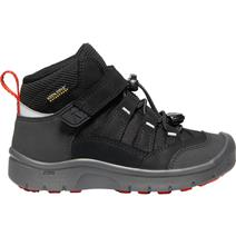 Keen Hikeport Childrens' Mid Waterproof Hiking Shoes - Black/Bright Red